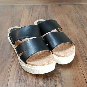 Adrienne Vittadini Women's Dean Two Band Sandals